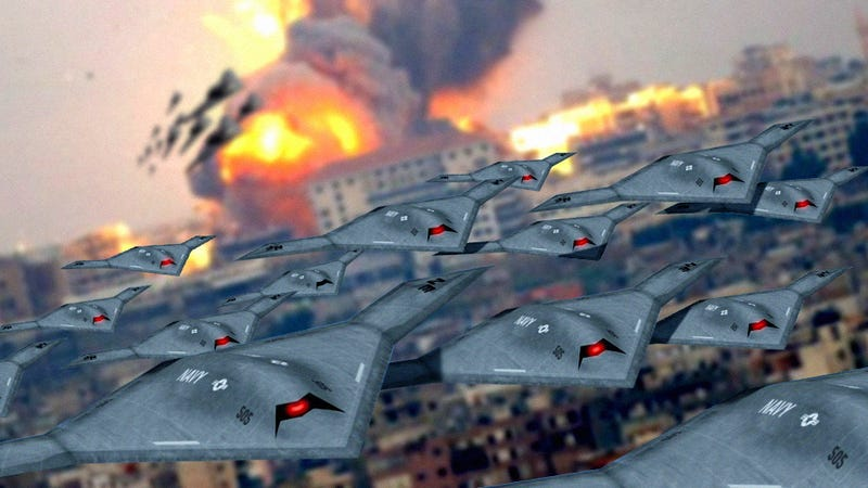 Illustration for article titled Swarms of Drones Will Kill Us All! (One Day)