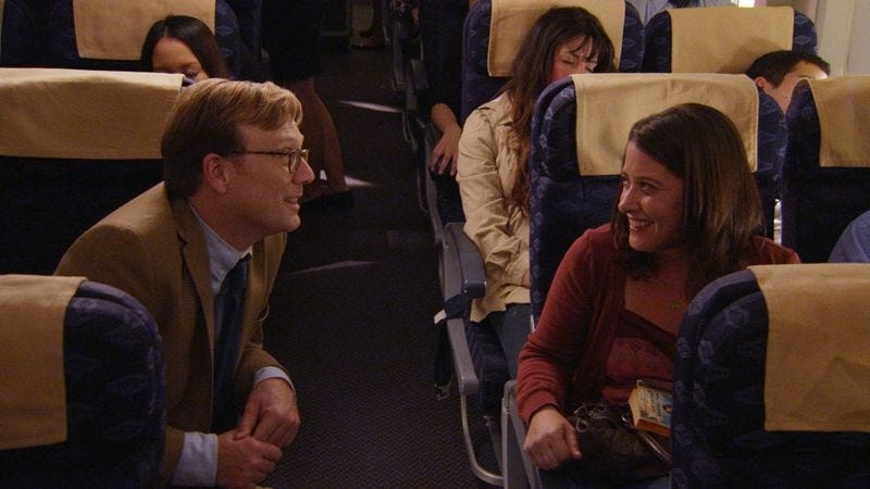 Illustration for article titled Forrest Macneil tries to join the mile-high club in this clip from Review on Comedy Central