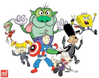 Illustration for article titled The Nicktoon Avengers Assemble!