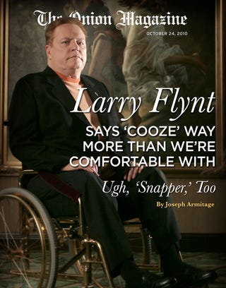 Illustration for article titled Larry Flynt Says 'Cooze' Way More Than We're Comfortable With