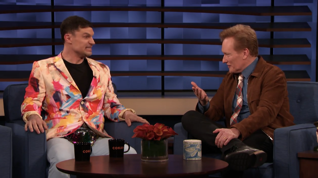 Flula Borg shows Conan his new music video with Ninja Sex Party, about a certain lazy Sunday