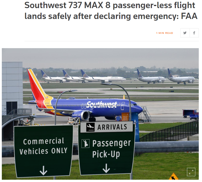 Illustration for article titled The 737 Max Saga Gets More Max