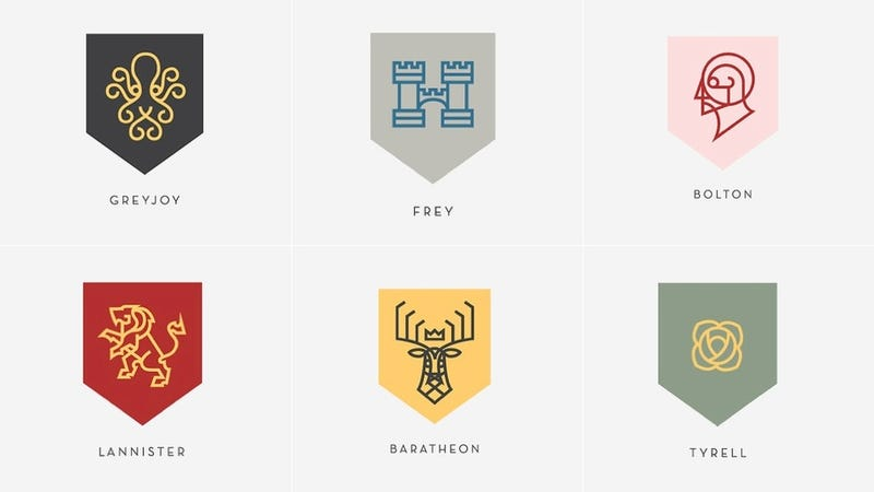 Illustration for article titled Game Of Thrones House Sigils, As Re-Imagined By A Nike Designer