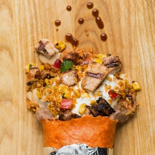 This won't be the last time you see those kernels. Photo credit: Freebirds (of course)