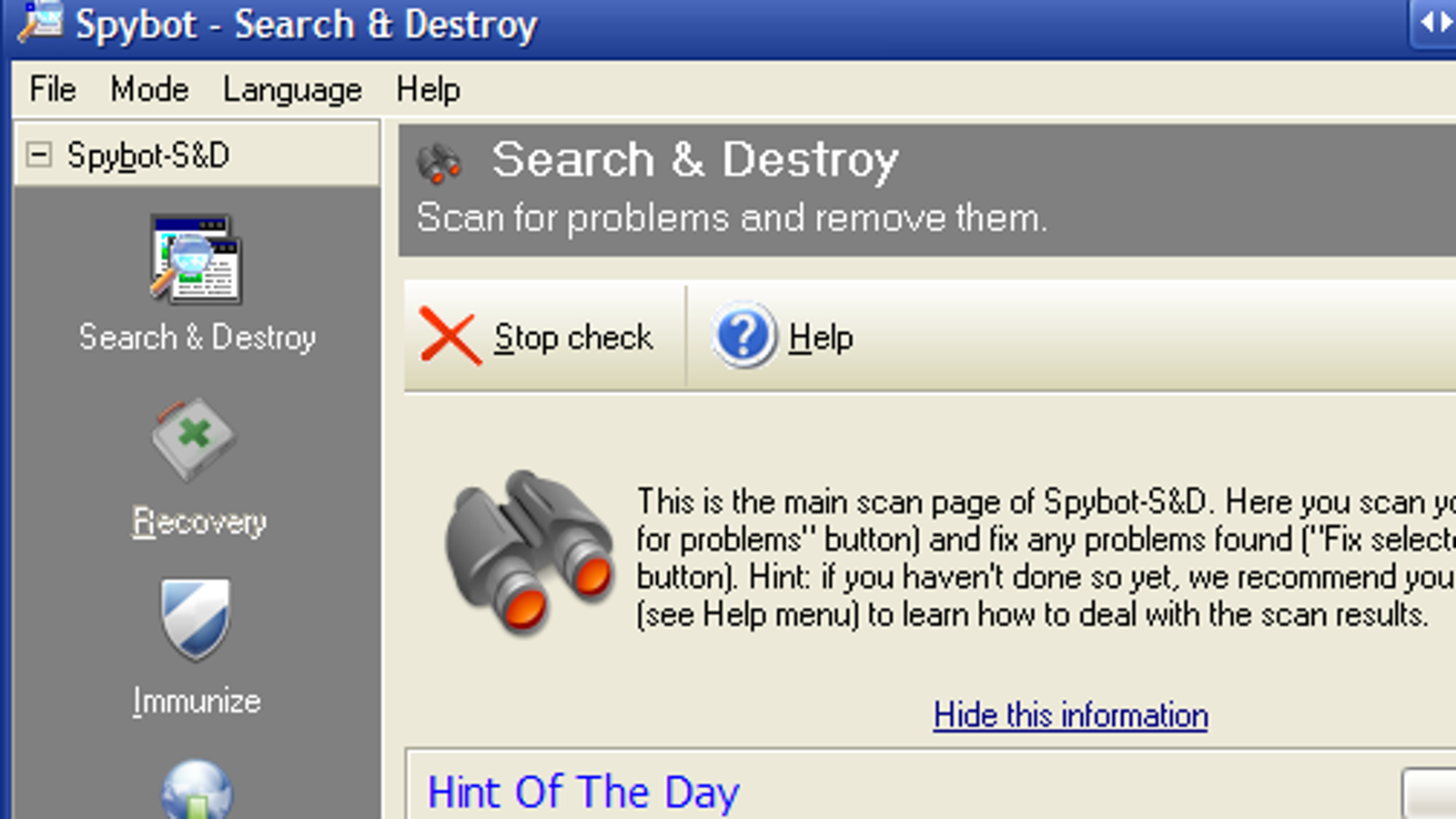 spybot search destroy official page