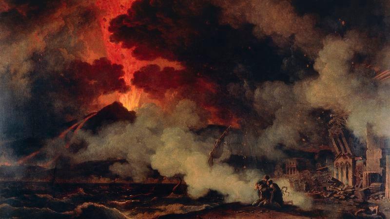 Eruption Of Vesuvius, August 24, 79, The Death Of Pliny (Pierre Henri De Valenciennes, 1750-1819. Photo: Getty Images.)