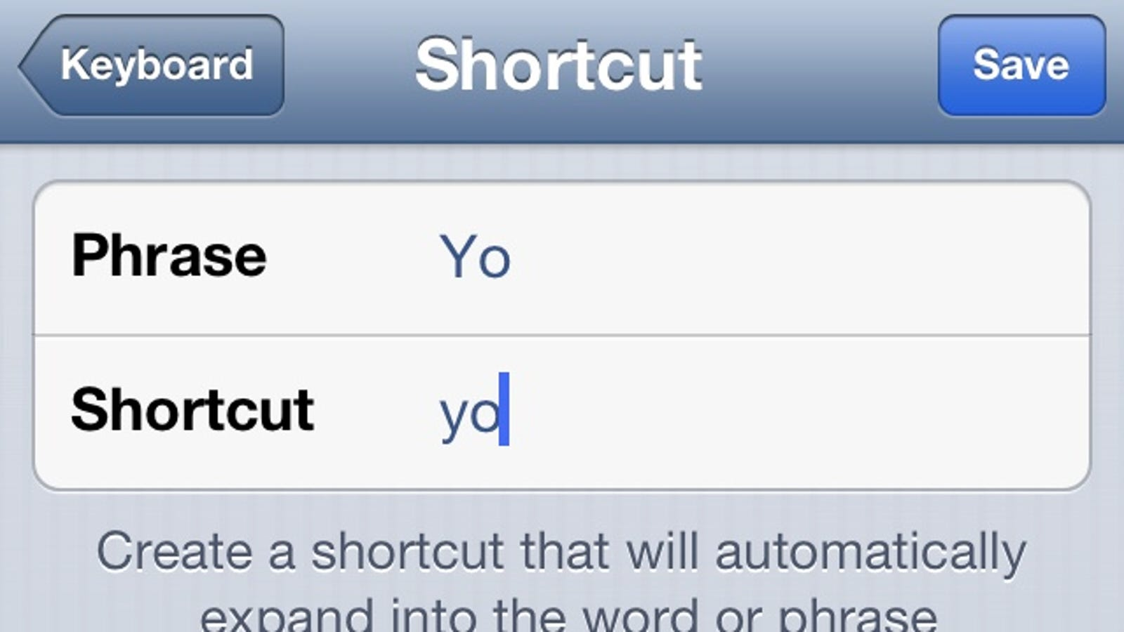 add custom words as shortcuts to circumvent iphone autocorrect