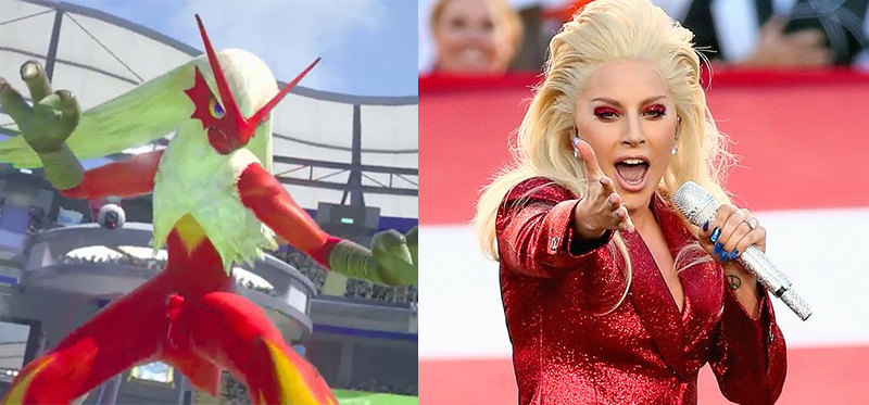 Illustration for article titled Lady Gaga Looked Like APokémon At The Super Bowl