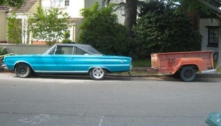 Illustration for article titled 1967 Plymouth Belvedere II, with Bonus 1958 Dodge Pickup Bed Trailer