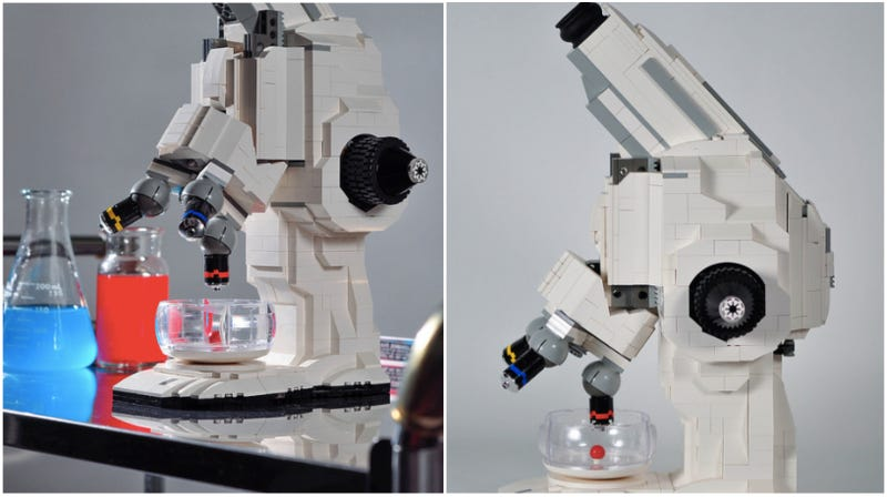 Illustration for article titled This Lego Microscope Actually Works