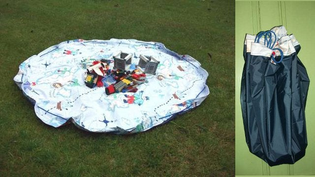 diy combination play mat and toy bag. Black Bedroom Furniture Sets. Home Design Ideas