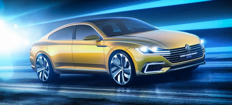 Illustration for article titled Gaze Upon VW's Design Future With TheSport Coupe Concept GTE