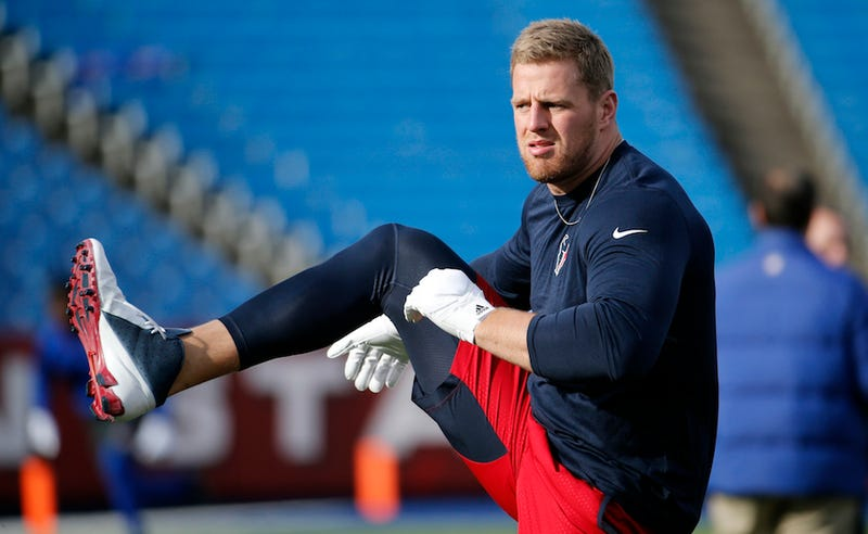 Illustration for article titled Did J.J. Watt Break His Hand While Jerking Off? [Update]