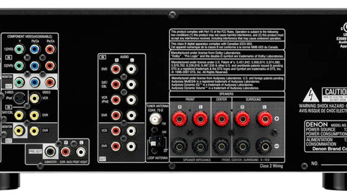 Denon's Latest Receiver Line Starts at $350, Loves iPods and