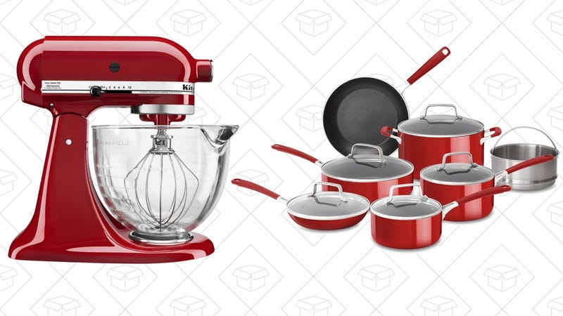 upgrade your kitchen with a deal on the kitchenaid tilthead stand mixer at best buy or a 12piece nonstick aluminum cookware set from amazon - Kitchenaid Mixer Best Price
