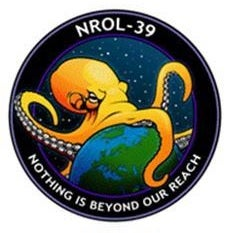 Illustration for article titled US spy agency launched this Earth-conquering octopus logo into orbit