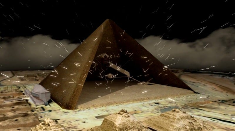 Illustration for article titled Cosmic Rays Could Help Unlock the Secrets of the Pyramids
