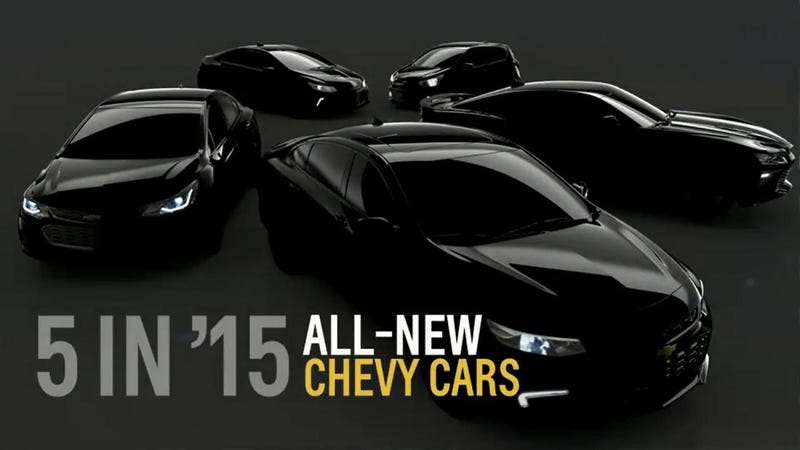 Illustration for article titled Teaser For New Chevys