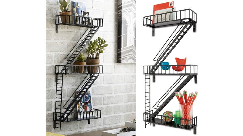 Illustration for article titled Adorable Fire-Escape Shelving: For When Your Knick-Knacks Need a Smoke Break