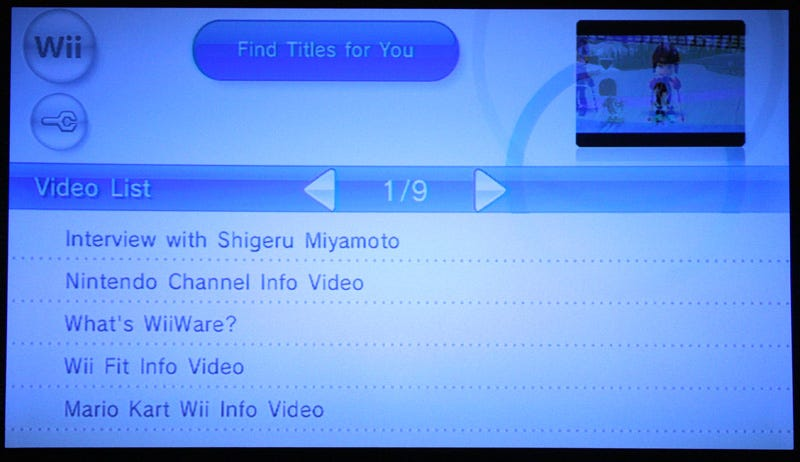 Illustration for article titled Nintendo Wii's Nintendo Channel Screenshot Tour and Hands-on