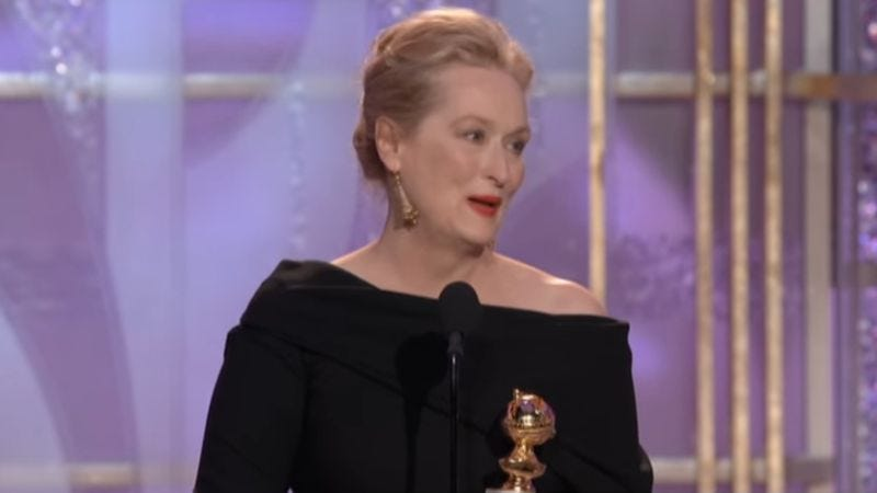 Golden Globes 2010: Meryl Streep (Screenshot: YouTube)