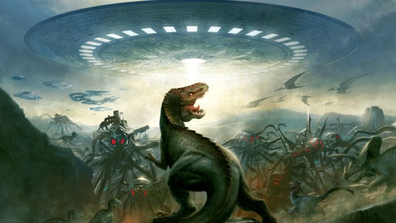 Illustration for article titled The genre apocalypse continues with Dinosaurs Vs. Aliens