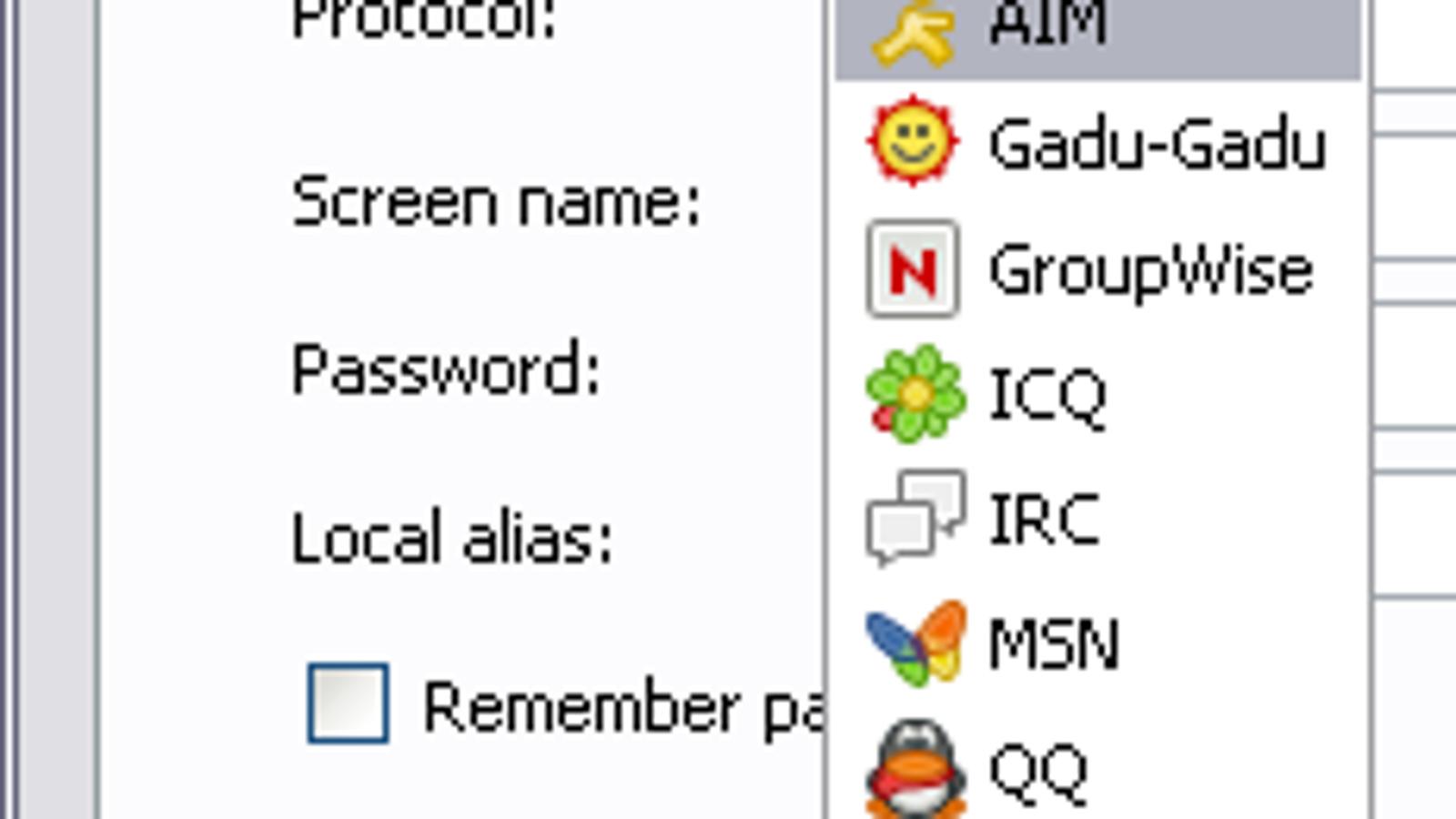 Pidgin instant-messaging client (Windows/Linux)