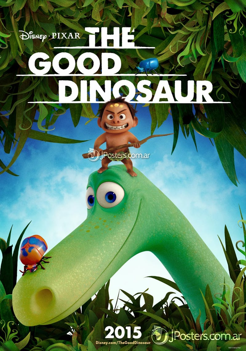 Illustration for article titled Meet Pixar's new characters in The Good Dinosaur poster