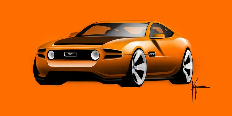 Illustration for article titled Here's the fifth-generation Mustang that never was