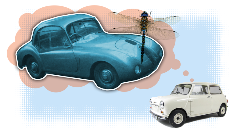 Illustration for article titled This Strangely Cartoonish Little Car You Never Heard Of Had The Mini's Innovations 13 Years Earlier