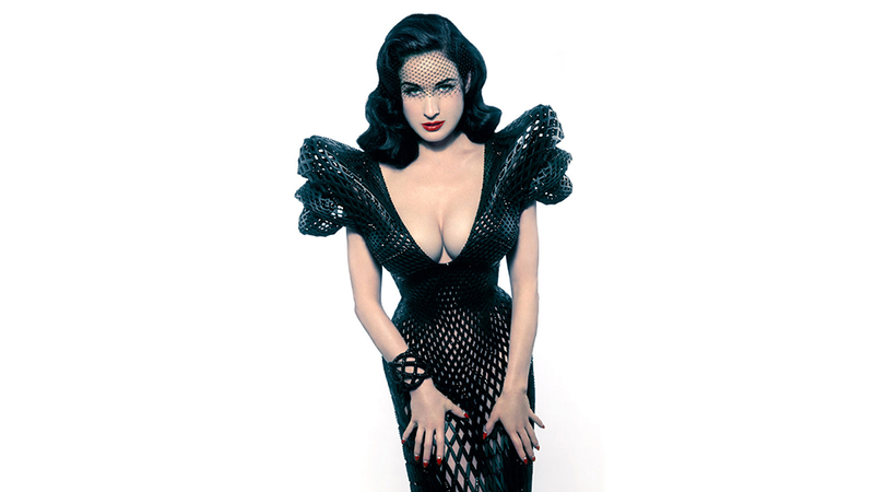 Illustration for article titled Dita Von Teese Flaunts the First 3D-Printed Dress You Might Actually Own Someday