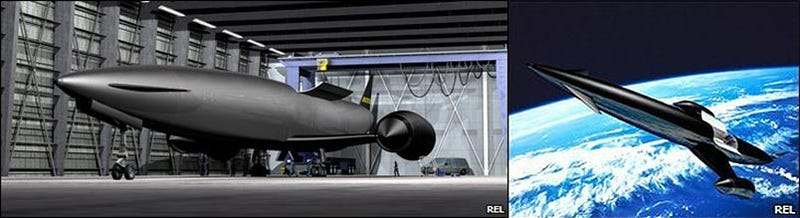 Illustration for article titled Skylon Rocket/Jet Hybrid Is, Scientifically Speaking, Super Cool