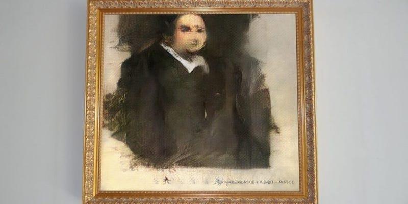 Illustration for article titled Alguien ha pagado por este cuadro más de 400.000 dólares, y lo hizo una IA. ¿Arte o tomadura de pelo?