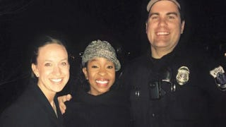 Officer Paul Rogerson's wife, Gladys Knight andOfficer Paul RogersonTwitter