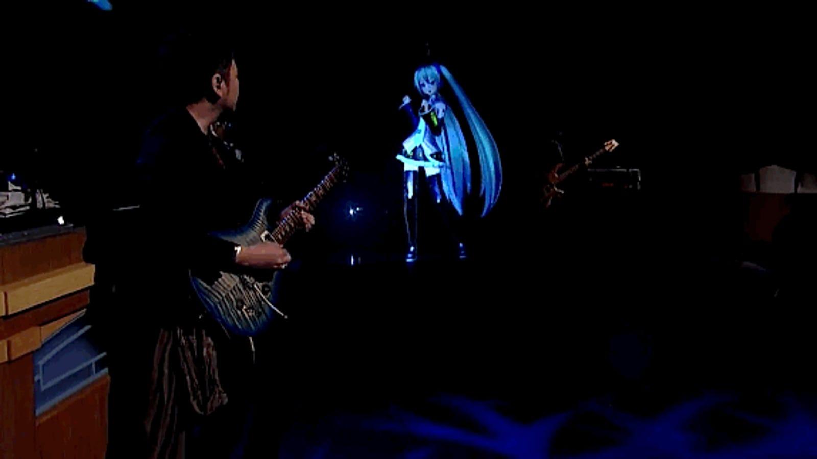 Recrean en directo a la pop-star virtual japonesa Hatsune Miku