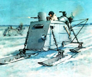 Illustration for article titled Sikorsky's Motorized Sleigh And Other Forgotten Soviet Snowmobiles