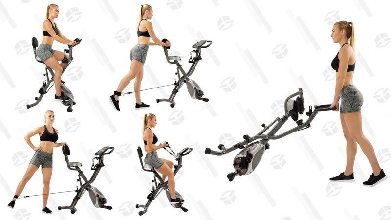 Bicicleta Sunny Health & Fitness plegable | $130 | AmazonGráfico: Shep McAllister