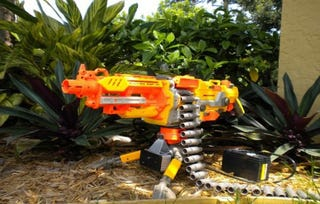 Illustration for article titled A Heat-Seeking, Automated Nerf Sentry Gun