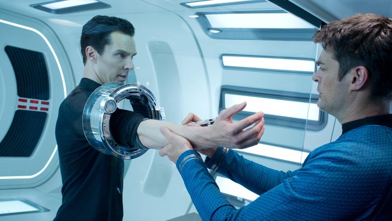 Cumberbatch in Star Trek Into Darkness. Also Karl Urban.
