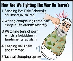 Illustration for article titled How Are We Fighting The War On Terror?