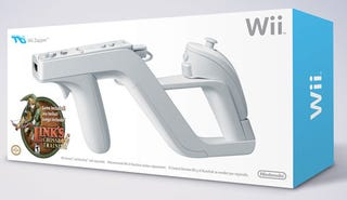Illustration for article titled Wii Zapper Box Makes Us a Little Excited