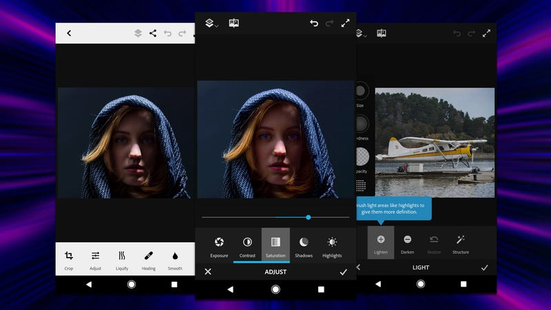 Illustration for article titled Photoshop Fix, the Simple Photo Retouching Tool, Comes to Android