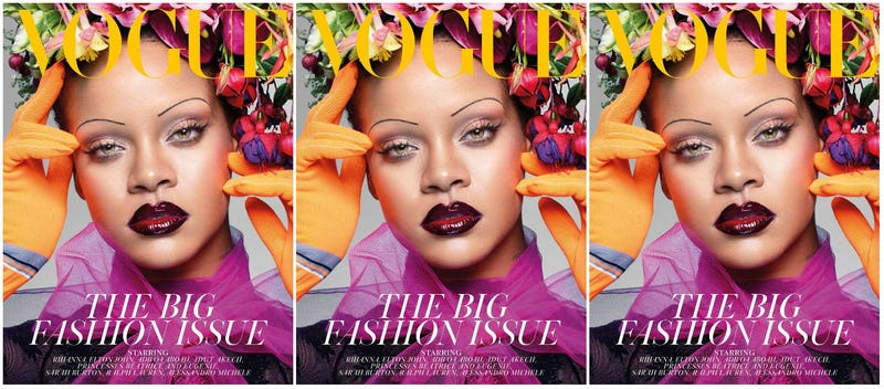 Illustration for article titled Take a Bow: Rihanna Is the 1st Black Woman to Grace the Cover of British Vogue's September Issue