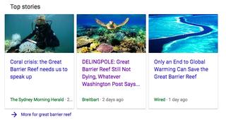 Illustration for article titled Google Top Stories Serves Breitbart Bullshit on Climate Science