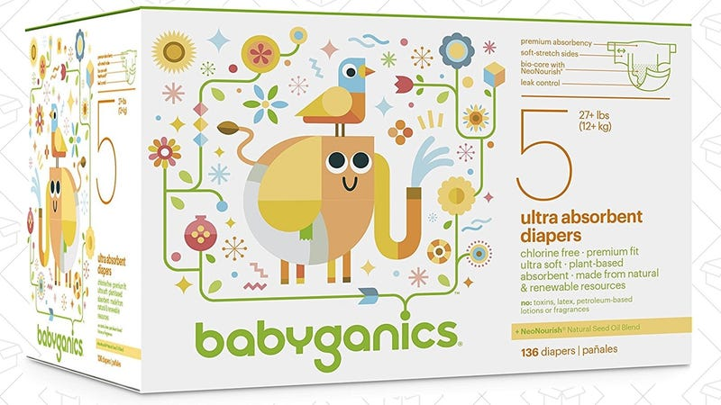 50% off Babyganics Diapers + Extra 20% with Subscribe & Save. Prime members only.