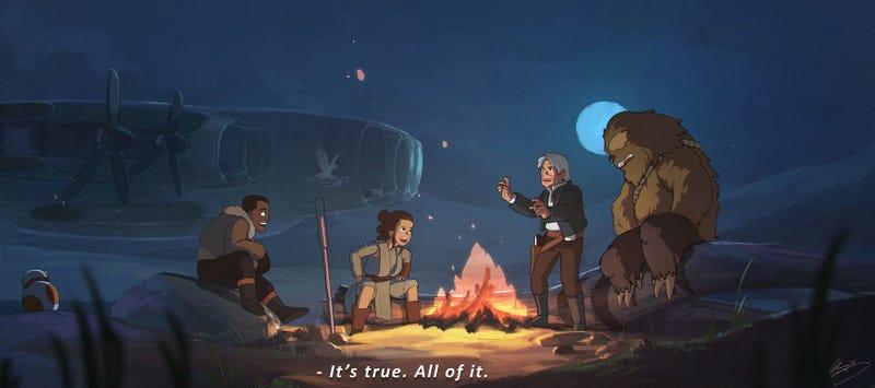 Star Wars al estilo del estudio Ghibli es una película que querríamos ver