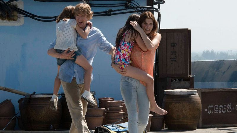 Lake Bell (with Owen Wilson) flees certain danger in No Escape