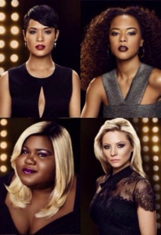 Clockwise from top left: Grace Gealey, Serayah, Kaitlin Doubleday and Gabourey SidibeCoverGirl