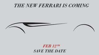 Illustration for article titled New Ferrari Will Debut Tomorrow, Likely A Front-Engined One-Off