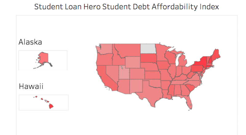 Illustration for article titled The Best and Worst States for Repaying Student Loans, Based on Disposable Income
